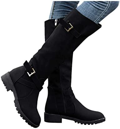 Amazon.com: Cenglings Women mid-Calf Boots Winter, Womens Knee .