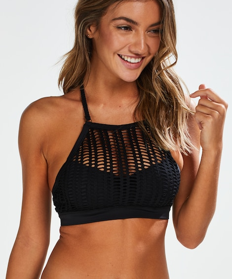 Borneo Mesh Underwired Bikini Crop Top - Bikini Tops - Swimwe