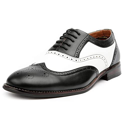 White and Black Dress Shoe: Amazon.c