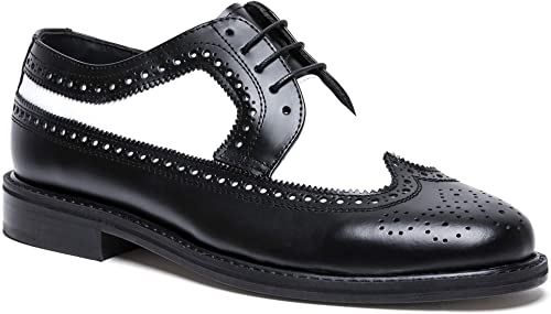 Amazon.com | Brentano Men's Black and White Wingtips 1920s-1940s .