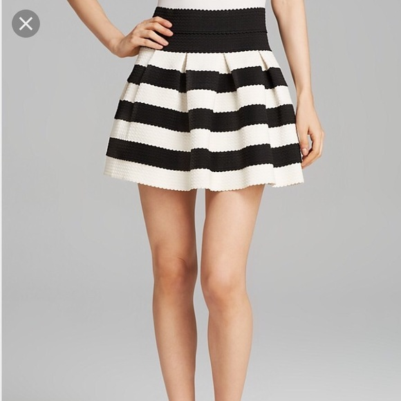 Black And White Striped Skirts