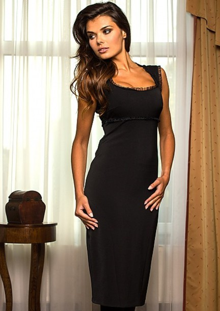 dress, little black dress, black, evening dress, sexy evening .