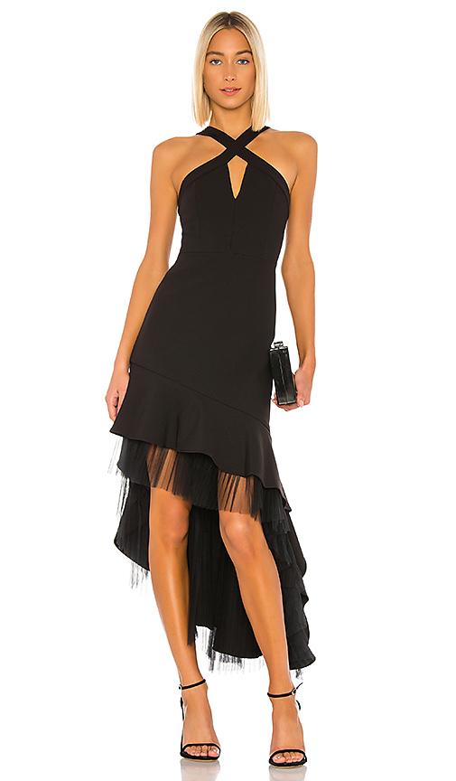 BCBGMAXAZRIA Hi Low Cocktail Dress in Black | REVOL