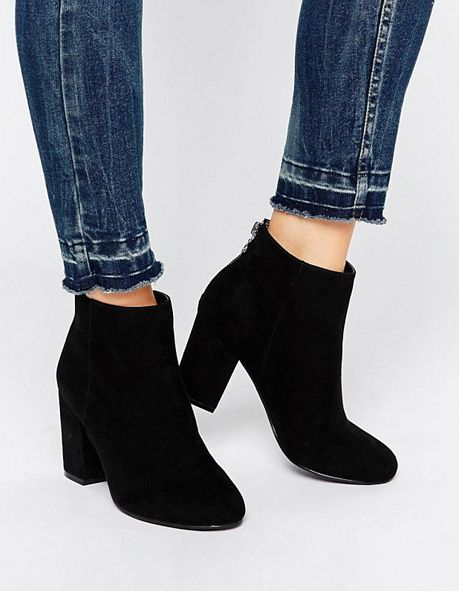 asos black heeled ankle boots | Black heeled ankle boots, Boots .