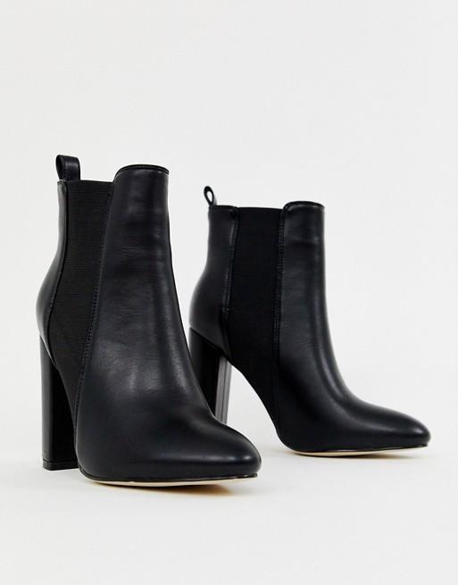 Simmi London Heidi black block heeled ankle boots | AS