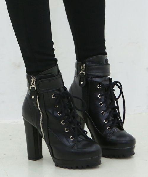 PLATFORM COMBAT BOOTS | Combat boots, Combat boots heels, Boo