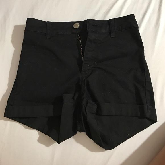 H&M Shorts   Hm Black High Waisted   Poshma