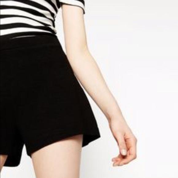 Zara Shorts   Basic Black High Waisted   Poshma
