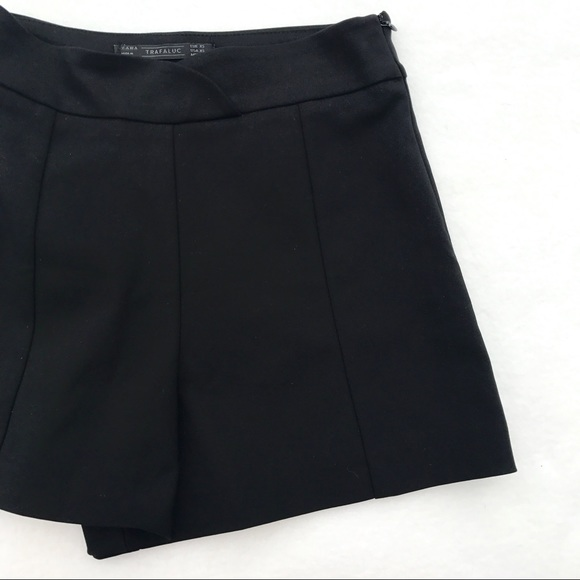 Zara Shorts | Trafaluc Black High Waist Side Zip | Poshma