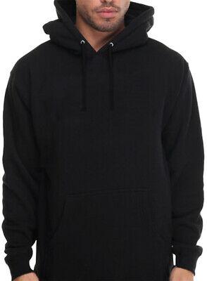 Men's Plain Black Hoodie Pullover Hooded Sweatshirt Blank hoody .