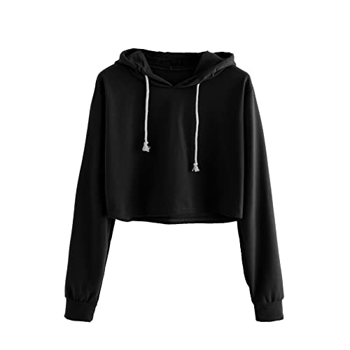 Black Cropped Hoodie: Amazon.c