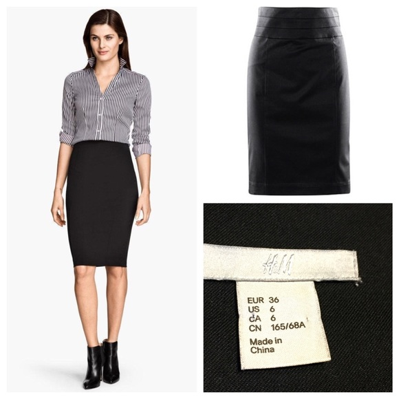 H&M Skirts | Hm Black Pencil Skirt | Poshma