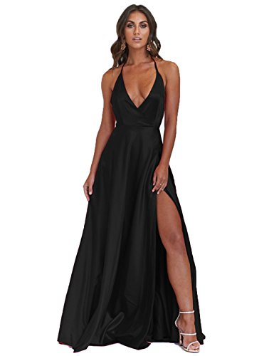 Sexy Halter Plus Size Evening Dresses for Women Empire Waist Prom .