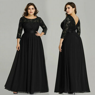 Ever-Pretty US Plus Size Black Formal Evening Gown Mother Of .