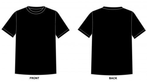 Blank Tshirt Template Black in 1080p | T shirt design template .
