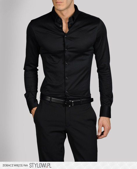 Black shirt | Stylish men, Well dressed m