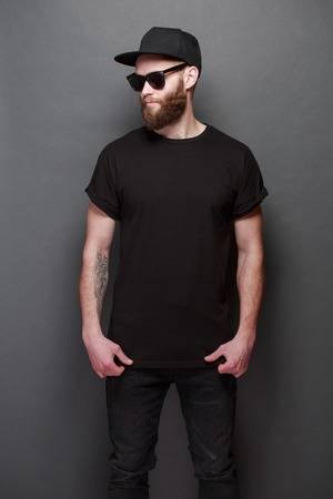 Black Shirt Stock Photos And Images - 123