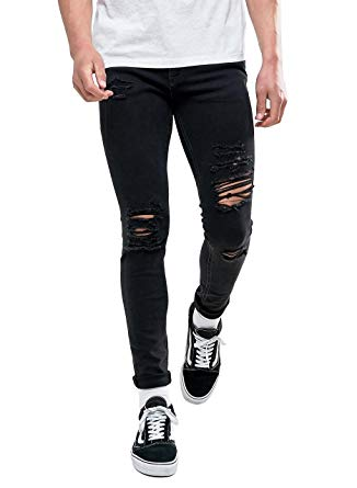 Wonder your wardrobe with the Ripped black skinny jeans .