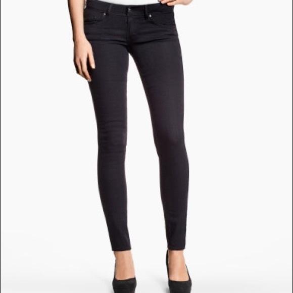 H&M Pants | Hm Black Lowwaist Skinny Jeans | Poshma