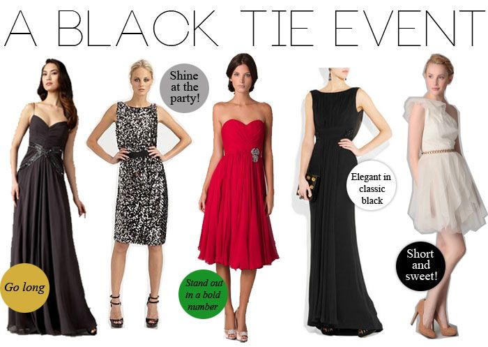 What to Wear to a Black Tie Event | Black tie attire, Black tie .