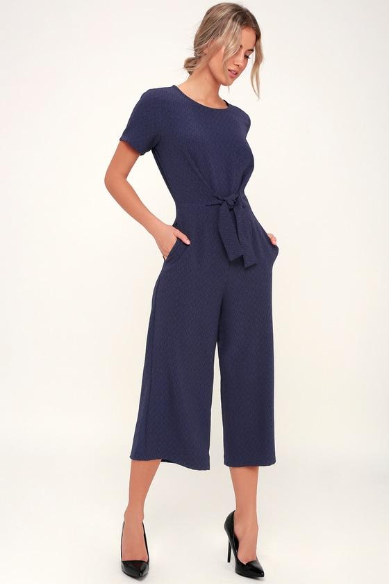Lulus x LUSH Jumpsuit - Navy Blue Jumpsuit - Culotte Jumpsu