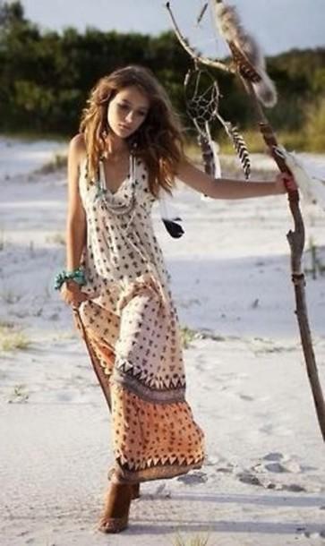 dress, boho, clothes, boho dress, bohemian, boho chic - Wheretog