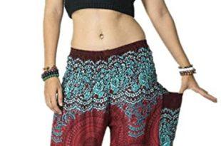 Amazon.com: Women's Harem Pants Bohemian Clothes Boho Yoga Hippie .