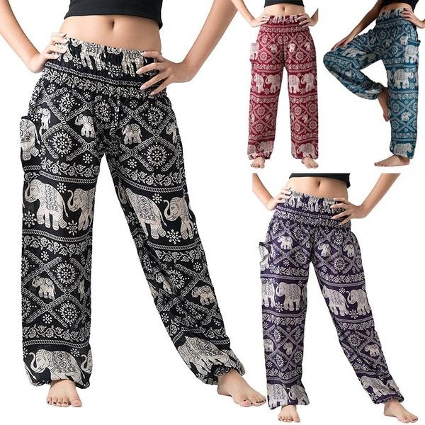 Women's Harem Pants Bohemian Clothes Boho Yoga Hippie Pants .