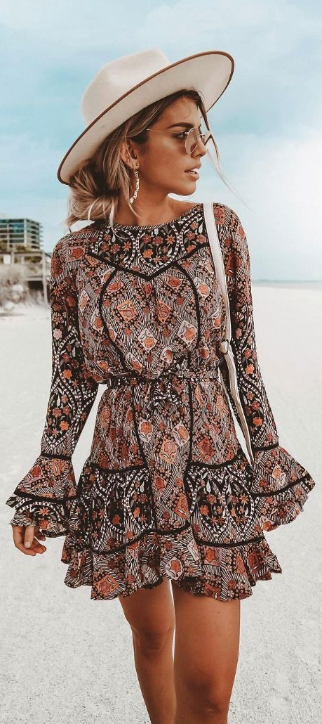 Bohemian dresses | Boho outfits, Boho fashion, Boho mini dre