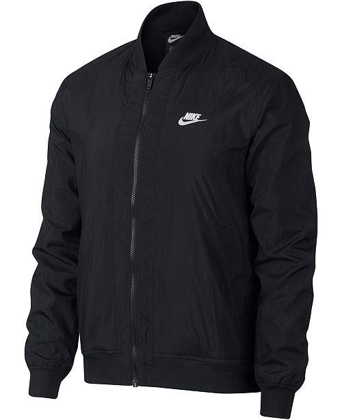 Nike Men's Bomber Jacket & Reviews - Coats & Jackets - Men - Macy