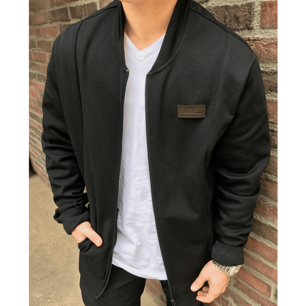 Black Bomber Jacket | Dapper Boi | Dapper B