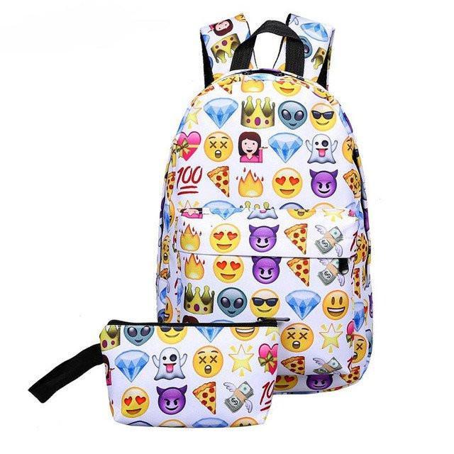 Emoji Book Bags | Emoji School Bag | Emoji Bookbags – SPARKLE .