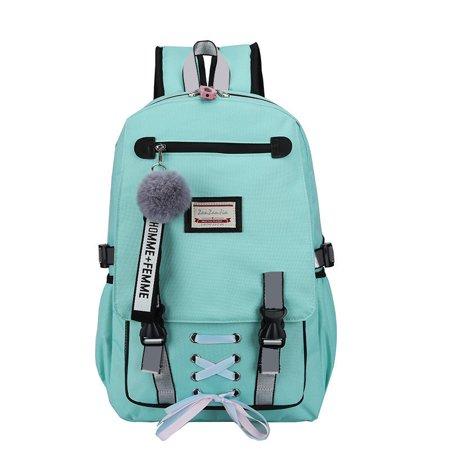 SPORTULI - School Bags Large Bookbags for Teenage Girls USB .