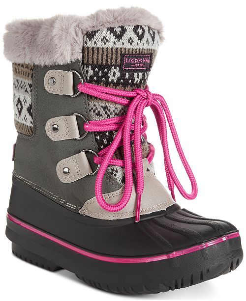 London Fog Little & Big Girls Tottenham Snow Boots & Reviews .