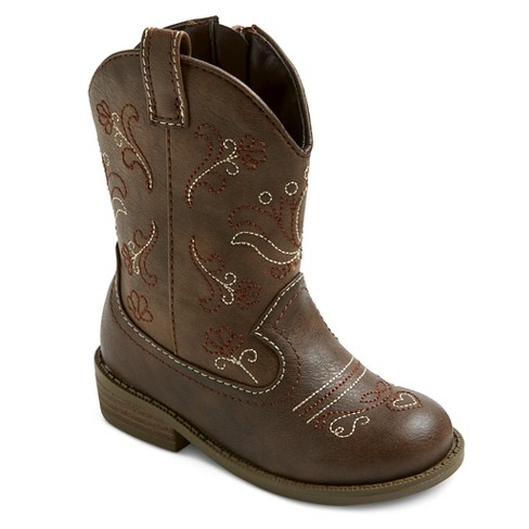 Toddler Girls' Chloe Classic Cowboy Western Boots - Cat & Jack .