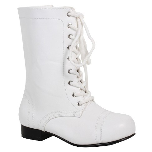 Kids' White Ankle Combat Costume Boot : Targ