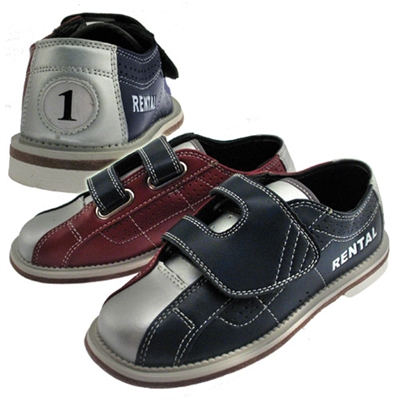 Leather Velcro Kids Rental Bowling Shoes - Free Shippi
