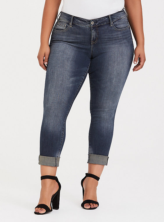 Plus Size - Boyfriend Jean - Premium Stretch Light Wash - Torr