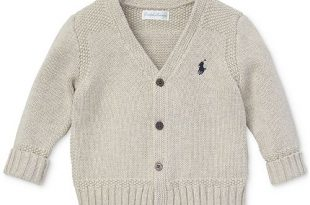 Polo Ralph Lauren Baby Boys Combed Cotton V-Neck Cardigan .
