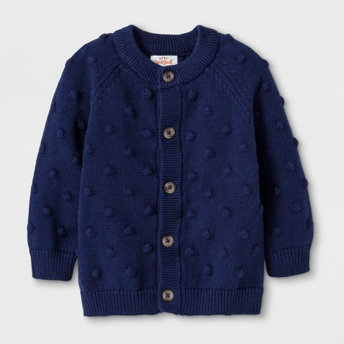 Baby Boys' Button-Up Cardigan Sweater - Cat & Jack™ Blue 0-3M : Targ
