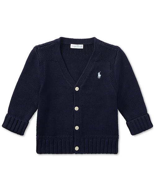 Polo Ralph Lauren Ralph Lauren Baby Boys Cotton Cardigan Sweater .