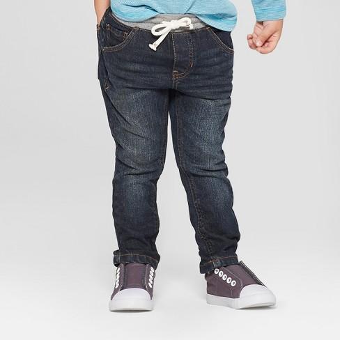 Toddler Boys' Pull-On Skinny Jeans - Cat & Jack™ Dark Blue : Targ