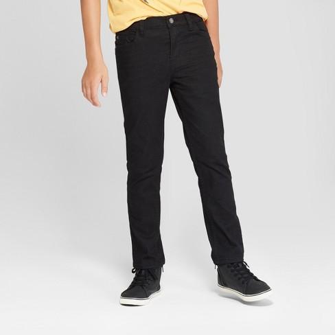 Boys' Skinny Fit Jeans - Cat & Jack™ Black Wash 12 : Targ