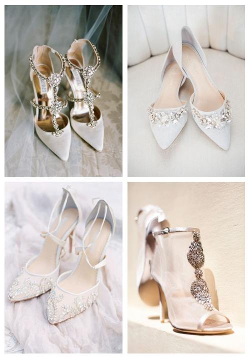 25 Gorgeous Embellished Wedding Shoes Ideas | HappyWedd.c