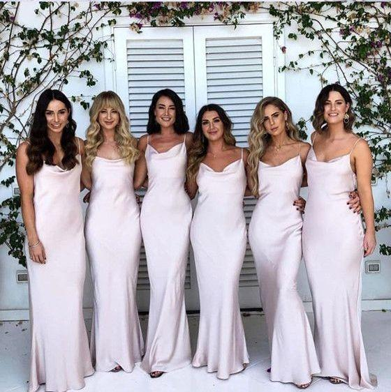 Boho Summer Sheath Simple Long Bridesmaid Dresses,Wedding Party .