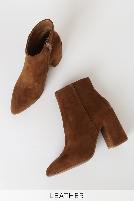 Steve Madden Therese - Brown Ankle Boots - Pointed-Toe Booti