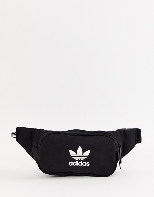 adidas Originals trefoil bumbag in black | AS