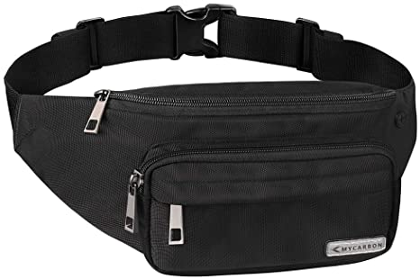 MYCARBON Bum Bag Large Capacity,Non-bounce Travel Waist Pack,Non .