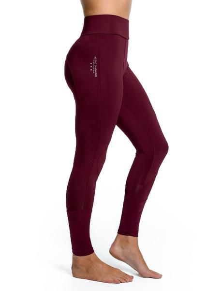 Burgundy Technical Stretch Leggings | Stretch leggings, Burgundy .