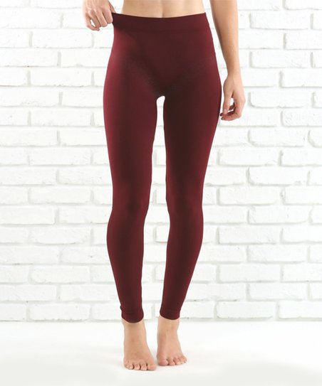 Contagious Burgundy Leggings - Women | Zuli